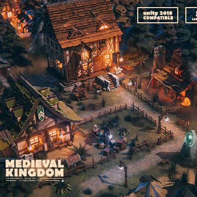 مدل سه بعدی شهر پادشاه قرون وسطا برای یونیتی