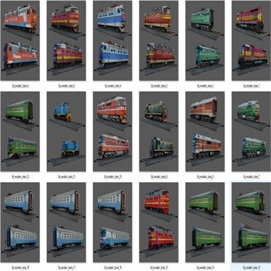 دانلود مجموعه مدل های سه بعدی قطار، واگن و ریل قطار