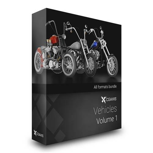 دانلود مجموعه مدل های سه بعدی موتورسیکلت CGAxis Vehicles Volume 1