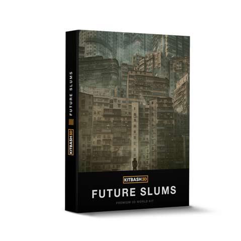 مدل سه بعدی کلان شهر و زاغه نشین پرجمعیت Kitbash 3d future slums