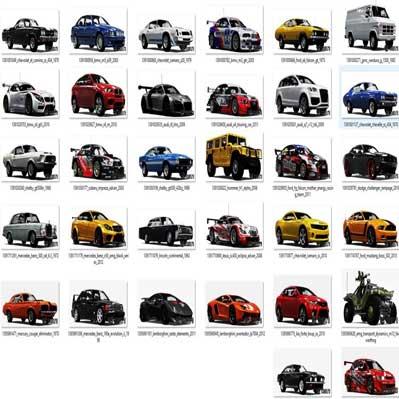 دانلود مجموعه 170 مدل سه بعدی 3D انواع ماشین مسابقه ای قدیمی و جدید