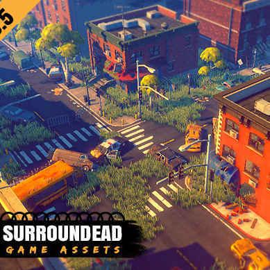 مدل سه بعدی (سرواویل) SurrounDead - Survival Game برای یونیتی