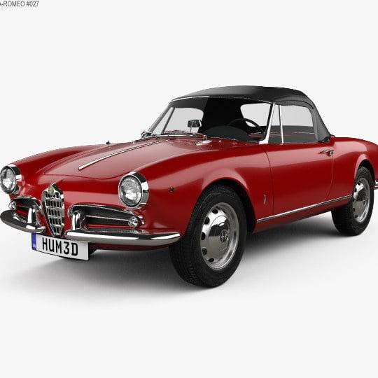 مدل سه بعدی اتومبیل Alfa Romeo Giulietta spider