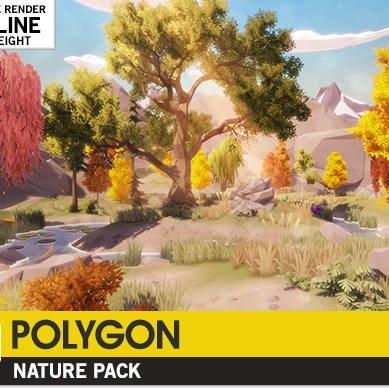مدل سه بعدی طبیعت POLYGON - Nature Pack برای یونیتی