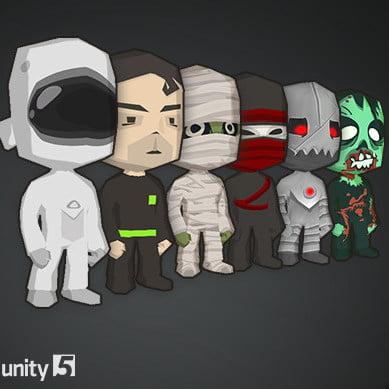 مدل سه بعدی پک کاراکتر Toon Character Pack برای یونیتی