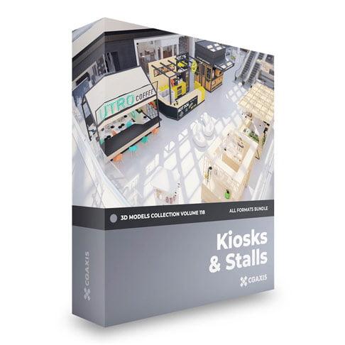 مجموعه مدل سه بعدی کیوسک و غرفه Kiosks and Stalls Volume 118