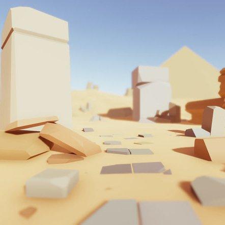 مدل سه بعدی سنگ های انیمیشنی Low Poly Rocks Pack برای یونیتی