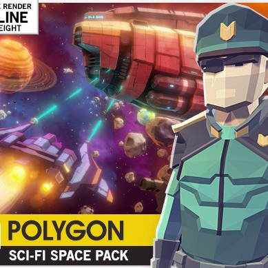 مدل سه بعدی بسته فضایی علمی تخیلی POLYGON - Sci-Fi Space Pack برای یونیتی