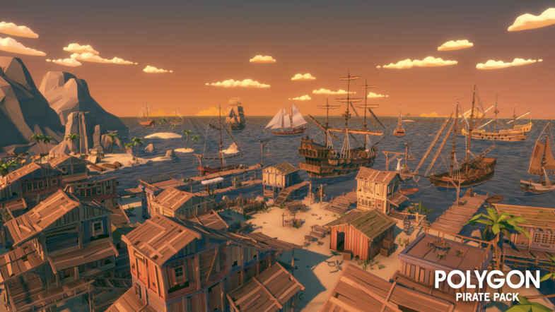 مدل سه بعدی دزدان دریایی POLYGON - Pirates Pack برای یونیتی