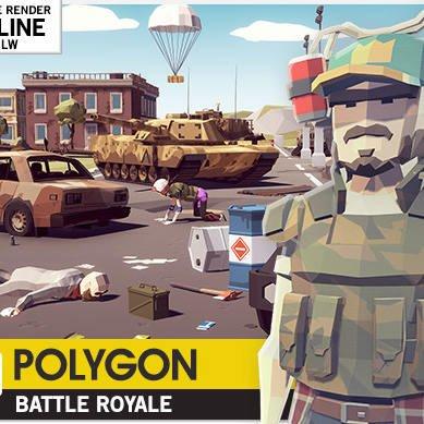 مدل سه بعدی پک بتل رویال POLYGON - Battle Royale Pack برای یونیتی