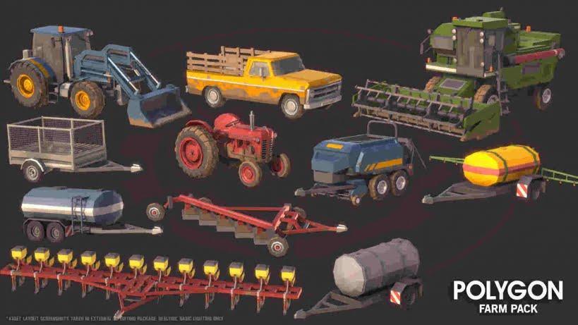 مدل سه بعدی مزرعه POLYGON - Farm Pack برای Unreal Engine