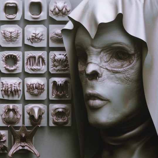 مدل سه بعدی 40 نوع لب و دهان zbp| fbx | obj