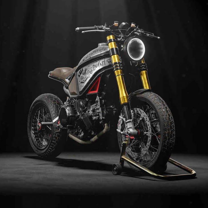 مدل سه بعدی موتور Custom Ducati Scrambler