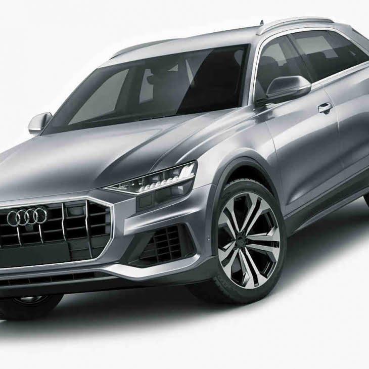 مدل سه بعدی اتومبیل Audi Q8 2019