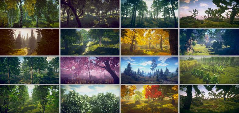 مدل سه بعدی انواع درختان Trees Variety برای یونیتی