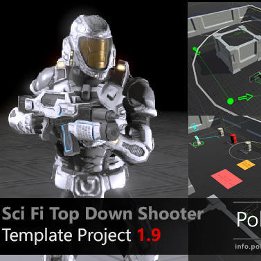 پروژه آماده بازی تفنگی Sci Fi Top Down Game Template برای یونیتی