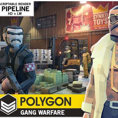 مدل سه بعدی گنگستر POLYGON - Gang Warfare Pack برای یونیتی