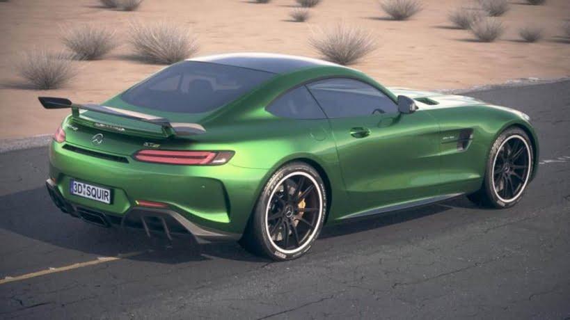 مدل سه بعدی اتومبیل مرسدس بنز Mercedes AMG GT R 2017
