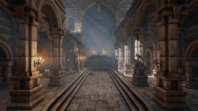 مدل سه بعدی قصر چند طبقه Multistory Castle برای آنریل انجین