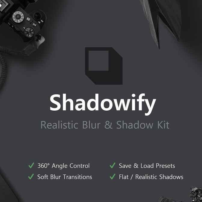 پلاگین سایه انداز ساخت تاری و سایه Shadowify - Blur & Shadow برای فتوشاپ