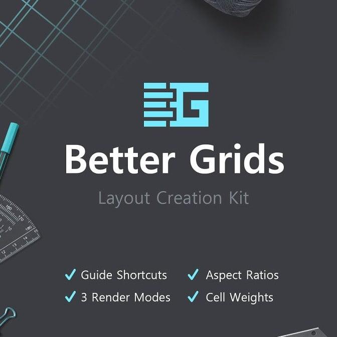 پلاگین ایجاد جدول و چینش Better Grids - Layout Creation Kit برای فتوشاپ