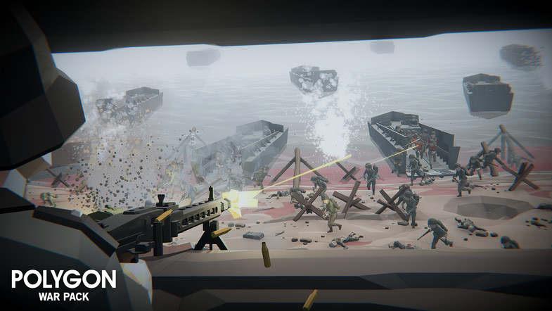 مدل سه بعدی جنگ POLYGON - War Pack برای یونیتی