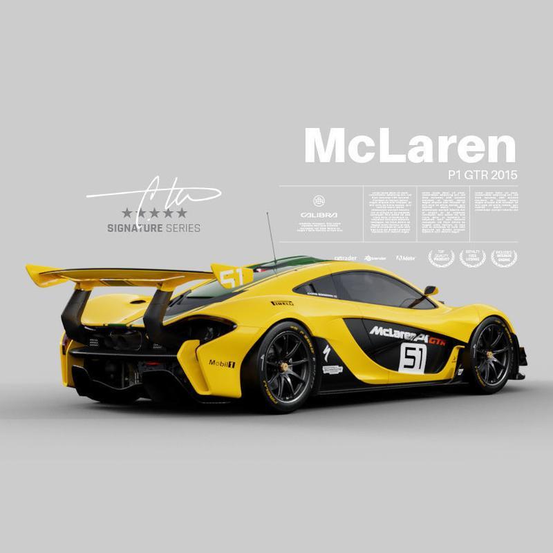 مدل سه بعدی اتومبیل مک لارن McLaren P1 GTR 2015 برای انواع فرمت ها