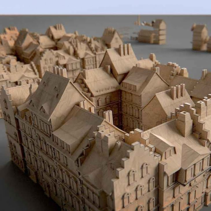 مدل سه بعدی ساختمانهای کاغذی و کیت مدل ساختمانی برای انواع فرمت ها