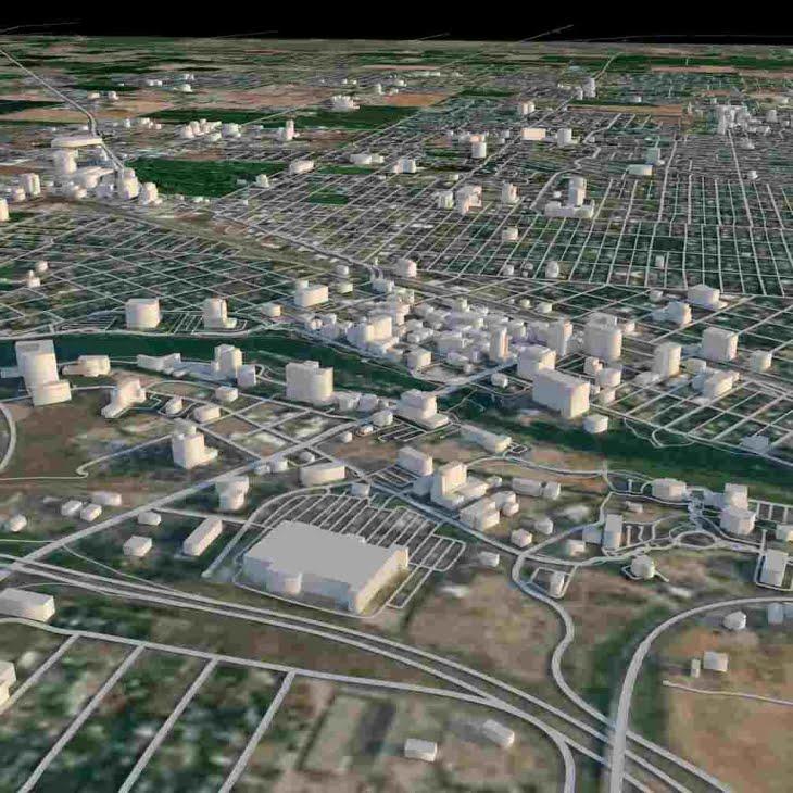 مدل سه بعدی شهر آیداهو Idaho City برای فرمت های FBX | 3DS | C4D