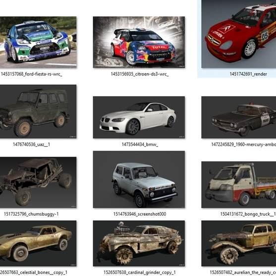 مدل سه بعدی 29 وسیله نقلیه vehicles برای انواع فرمت ها