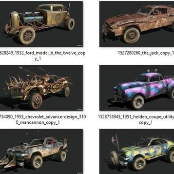 مدل سه بعدی 17 وسیله نقلیه vehicles برای انواع فرمت ها