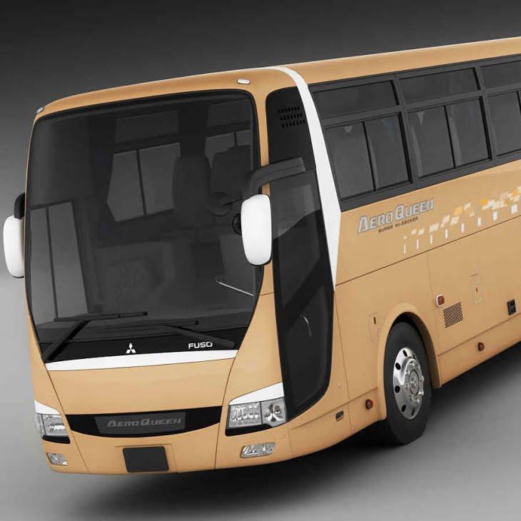 مدل سه بعدی اتوبوس Mitsubishi Aero Queen برای انواع فرمت ها
