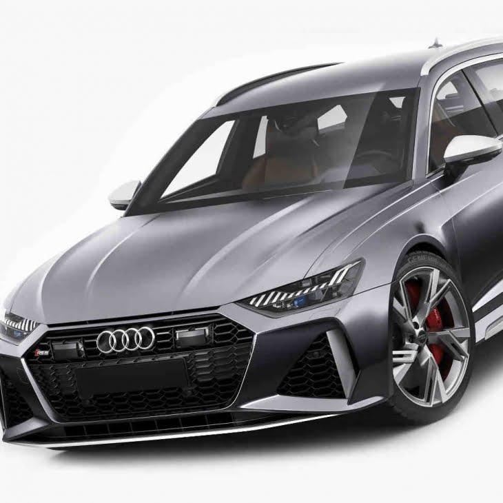 مدل سه بعدی اتومبیل آئودی Audi RS6 avant 2020 برای انواع فرمت ها