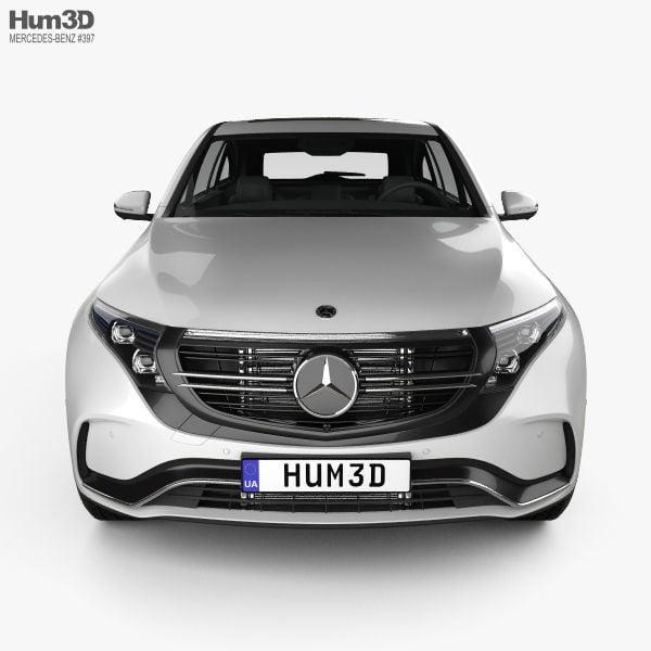 مدل سه بعدی اتومبیل مرسدس بنز Mercedes-Benz EQC 2020 برای 3D Max