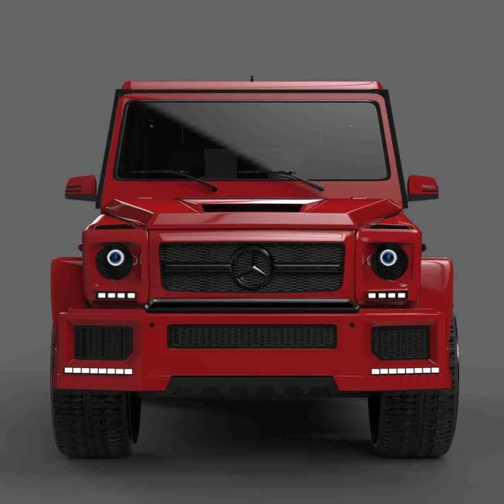 مدل سه بعدی اتومبیل مرسدس Mercedes Gelendwagen G63 برای 3D Max
