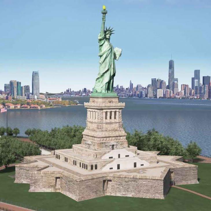 مدل سه بعدی مجسمه آزادی Statue of Liberty برای فرمت های fbx و max