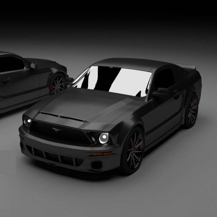 مدل سه بعدی اتومبیل فورد Ford Mustang GT برای انواع فرمت ها