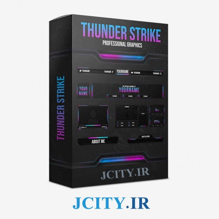 دانلود پکیج اورلی Thunder Strike برای استریم